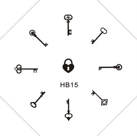 HB 15. Keys! and a heart-shaped lock. #HB #heartshaped #Keys #Lock