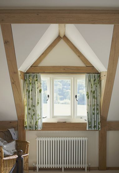 Dormer window with oak cheeks and vaulted roof to ridge beam. The ...