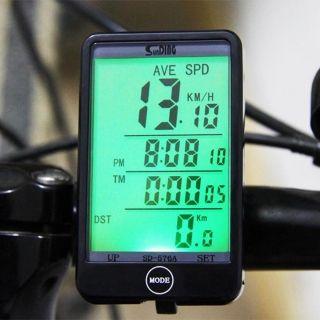 lcd vitesse de bicyclettes chronomètre compteur kilométrique vélo ordinateur