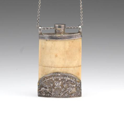 Chinese Silver Clad Bone Snuff Bottle