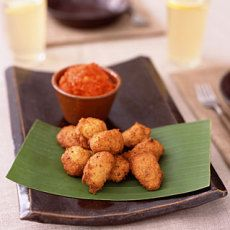 Black-Eyed Pea Fritters with Hot Pepper Relish