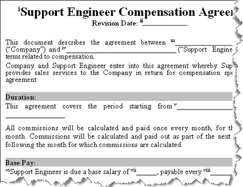 Buy Sales Commission Agreements Templates - Software Support - private loan agreement template