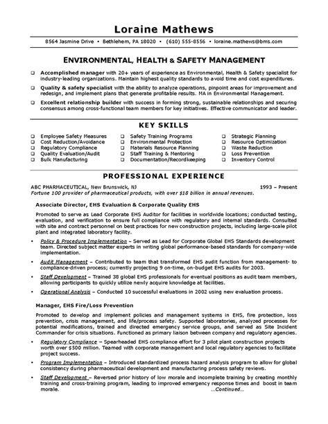 safety specialist sample resume safety specialist sample resume