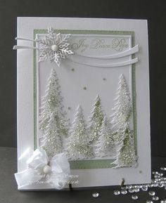 Christmas Card - All essential products for this project can be found on Crafting.co.uk - for all your crafting needs. - Joy.. Peace.. Love..