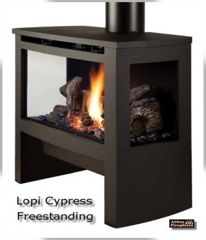 The Lopi Cypress Gs2 Freestanding Dv Gas Fire By Abbey Fireplaces Gas Fire Stove Gas Fireplace Gas Stove Fireplace