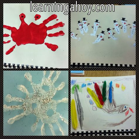 Learning Ahoy!!: Parent gifts (handprint calendar)