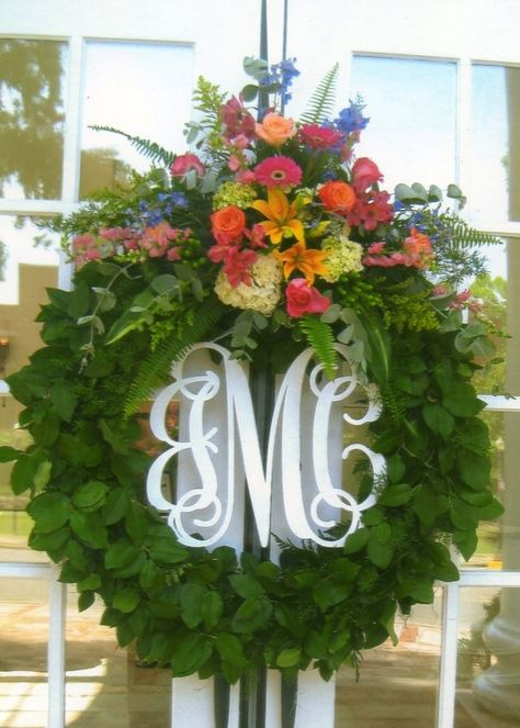Southern Proper Monograms 3-Letter 16-Inch Monogram Wreath