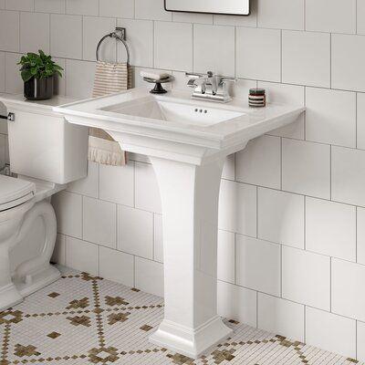 American Standard Town Ceramic 30 Pedestal Bathroom Sink With