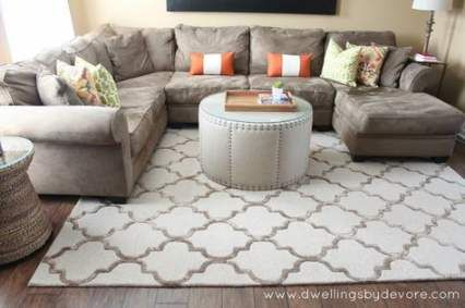 Living Room Sectional Placement Sofa Tables 58 Ideas Livingroom Living Room Rug Placement Livingroom Layout Comfy Living Room Decor