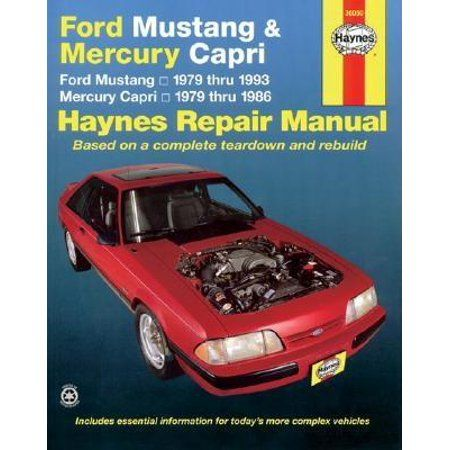 Books Mercury Capri Ford Mustang Repair Manuals