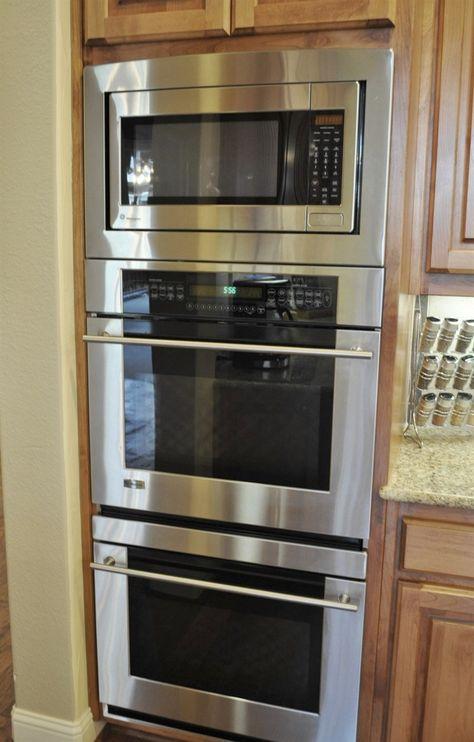 27 Superb Double Oven Slide In Elektro-Doppelbackofen Induktionsherd Kitchen Redo, Kitchen Pantry, Home Decor Kitchen, New Kitchen, Home Kitchens, Kitchen Remodel, Kitchen Cabinets, Kitchen Appliances, Copper Appliances
