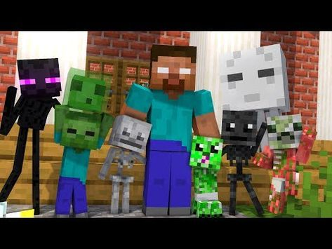 Baby Monster School Herobrine S Life The Story Of Monster School Minecraft Animation Youtube Monster School Minecraft Wallpaper Minecraft