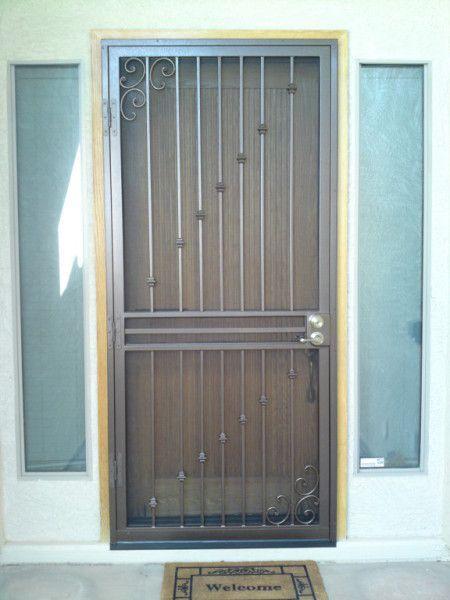 Security Screen Door Storm Door Window Guards Steel Window Bars Designer Door For Az Security Screen Door Iron Security Doors Metal Doors Design