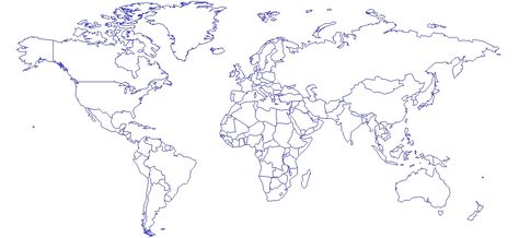 Autocad Dunya Haritasi Cizimi Dunya Haritalari Cizim Harita