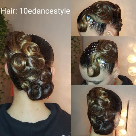 swarovski #hair #updo #dance...
