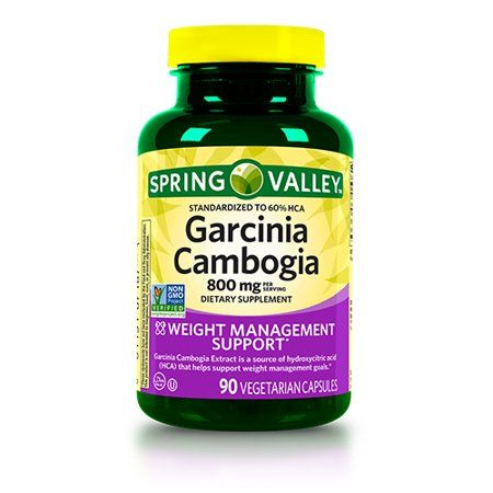 Spring Valley Garcinia Cambogia Capsules 800 Mg 90 Count Walmart Com Diet Pills That Work Diet Pills Health