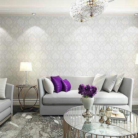 0 53x10m Wallpaper Roll Tv Background Sticker Elegant Home Room