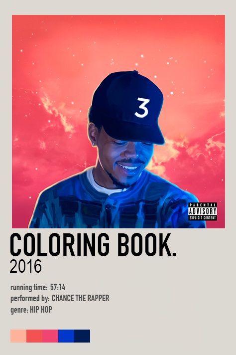 Coloring Book Album Poster Coloring Book Album Chance The Rapper Coloring Books