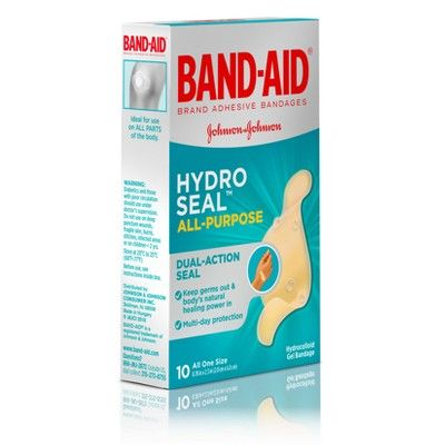 Band Aid Brand Hydro Seal All Purpose Adhesive Bandages 10ct Band Aid Bandage First Aid For Kids