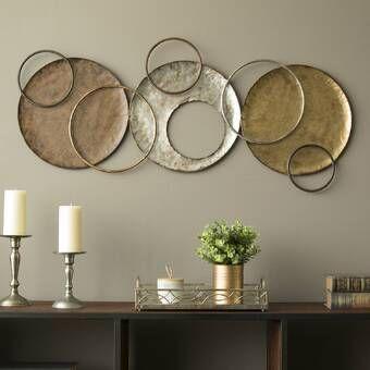 Multi Circles Wall Decor Plate Wall Decor Stratton Home Decor