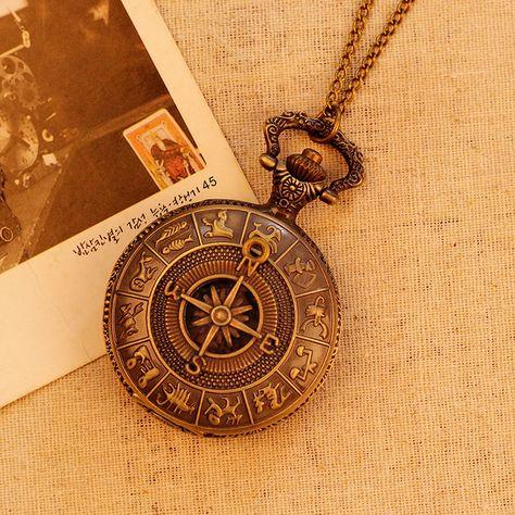 Rome Antique boussole motif Quartz analogique Vintage carte Antique montres de poche horloge Mens Hot cadeau 78 cm chaîne 4.62 cm diamètre dans Montres à gousset de Montres sur AliExpress.com | Alibaba Group