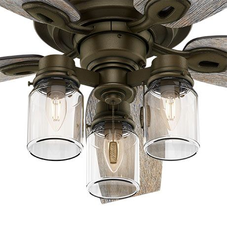 The Hunter Crown Canyon Ceiling Fan With Lights Includes Incandescent Light Bulbs Bronze Ceiling Fan Ceiling Fan With Light Ceiling Fan Light Kit