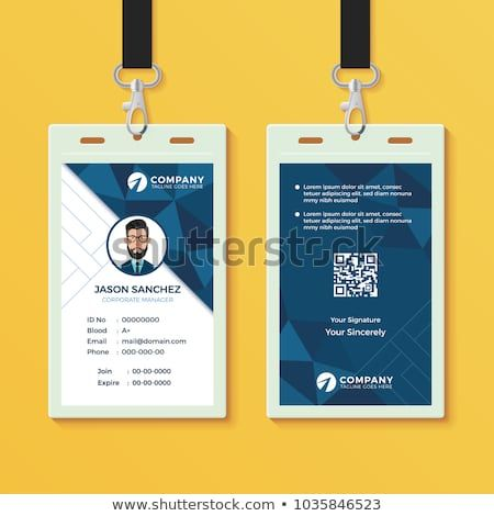 Creative Id Card Template Perfect For Any Types Of Agency Corporate Offices And Companies You Can Also Us Identity Card Design Id Card Template Card Design