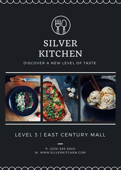 Silver Kitchen Restaurant Flyer Templates By Canva Restaurant
