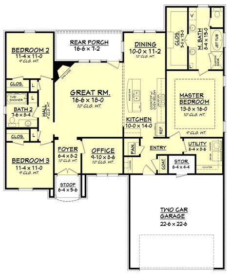Sandstone B Country French House Plan – House Plan Zone ... on study zone, color zone, house plans in flood areas, construction zone,