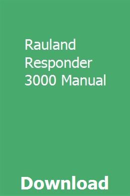 Rauland responder system 3000 manual manual. Tx4001 telecenter.