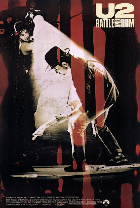 U2 Rattle & Hum 27x40 Movie Poster (1988)