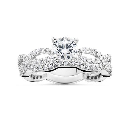 Jewelry Infinity Wedding Ring Set Infinity Ring Wedding Natural Diamond Engagement