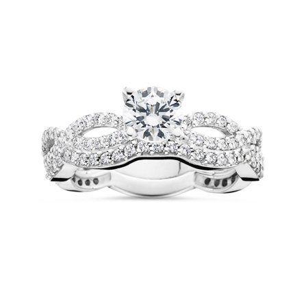 Jewelry Infinity Wedding Ring Set Infinity Ring Wedding Natural Diamond Engagement