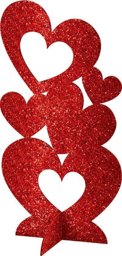 3d Glitter Heart Centerpiece 5 7 8 In X 11 1 2in Heart Decorations Glitter Hearts Glitter Centerpieces