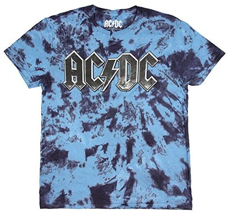 AC//DC Logo Official Hard Rock and Roll Music Black Mens T-shirt