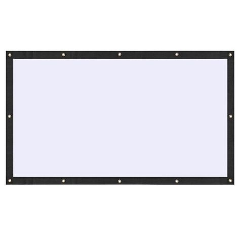 Soft Foldable 100 16 9 Ratio Indoor Outdoor Polyester Projector Screen Works Indoor Or Outdoor Perfe Screen Material Backyard Movie Nights Projector Screen