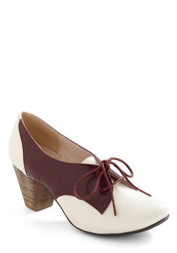 Wish I had these. Soft Serve Heel in Burgundy, #ModCloth