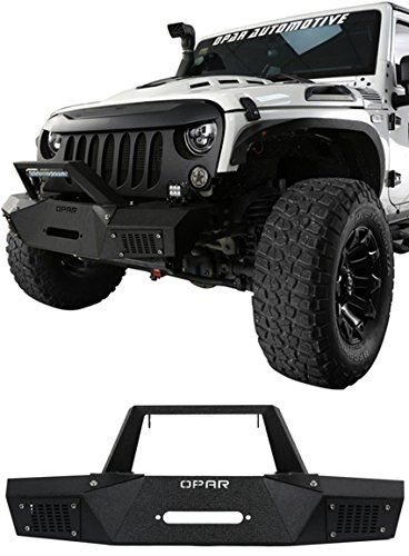 2007 2018 Jeep Wrangler Jk Marauder Front Bumper W Led Light Bar Winch Plate Jeep Wrangler Jk Jeep Bumpers Jeep