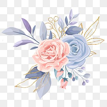 Elegant Bouquet Watercolor Flower Roses Clipart Flower Wedding Png Transparent Clipart Image And Psd File For Free Download Watercolor Flower Vector Flower Illustration Watercolor Flowers