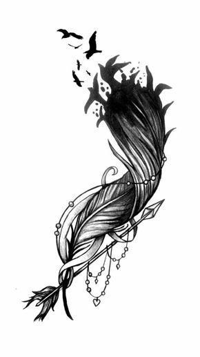 Feder Tattoo Style Ideen 870 Jpg 736 1305 5