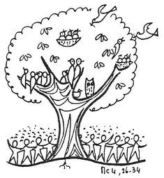 Mustard Seed Tree Clip Art Parable Of The Mustard Seed Coloring