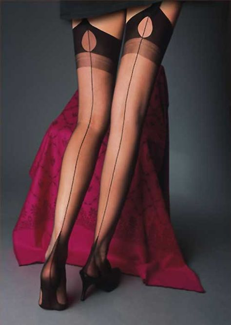117d871f1 Cervin Tentation Fully Fashioned Seamed Stockings