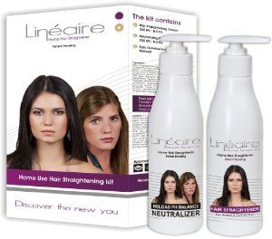 Lineaire Professional Keratin HOME USE Hair Straightener Cream - for Regular and Colored Hair, 2 X 8.5 Oz, Up To 3-4 Treatments by Lineaire. $48.39. The best do-it-yourself kit available today! No more wasting time and money on outside help. Now you can get silky, smooth and shiny hair with this easy and safe home kit!. Protects the hair - enriched with special nourishing oils - Argan, Oblipiha; and Coconut. Contains special calming herbal extracts, vitamin E ...