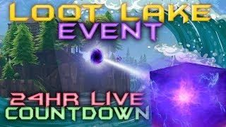 FORTNITE - 24HR LIVE CUBE EVENT - CUBE IS MOVING NOW - LOOT