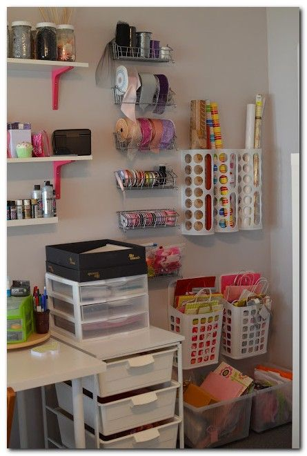 Her Story: Holy Craft! Several IKEA products used for storage. - Her Story: Holy Craft! Several IKEA products used for storage. Some really good ideas here.