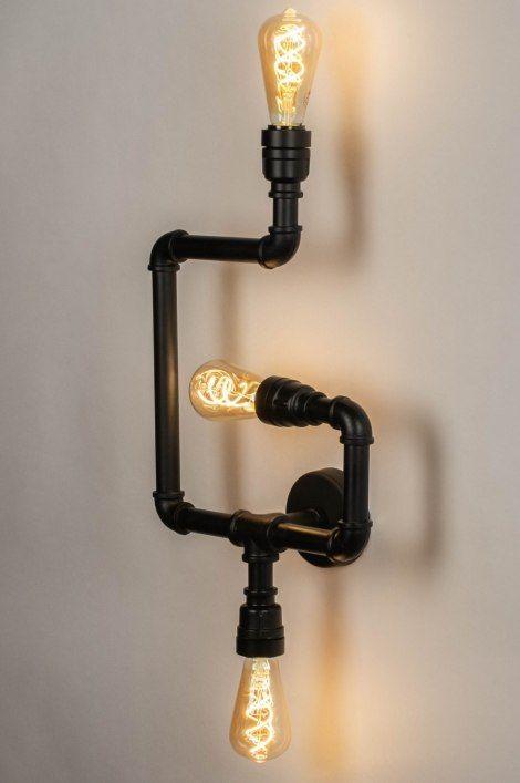 Wandlamp 73326 Industrie Look Modern Stoer Diy Lamp Wandlamp Lampen Zelf Maken