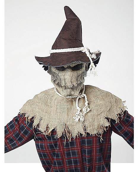 Sadistic Scarecrow Scary Evil Horror Halloween Ani-Motion Mask Men Costume