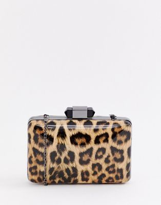 hot-selling real men/man baby True Decadence patent leopard print box clutch bag | fashion ...