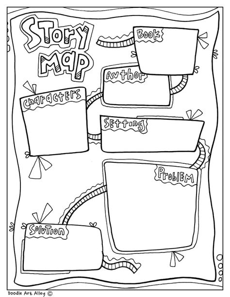 Story Map Graphic Organizer at Classroom Doodles, from Doodle Art Alley is part of Relief teaching ideas - 2nd Grade Reading, Guided Reading, Teaching Reading, Teaching Ideas, Story Maps, Art Story, Story Map Template, Graphic Organizer For Reading, Writing Graphic Organizers