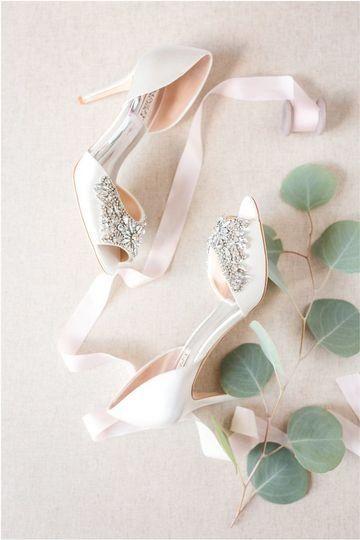 79e305b97c2f7 Open-toe wedding heels- embellished, cream wedding shoes for bride ...